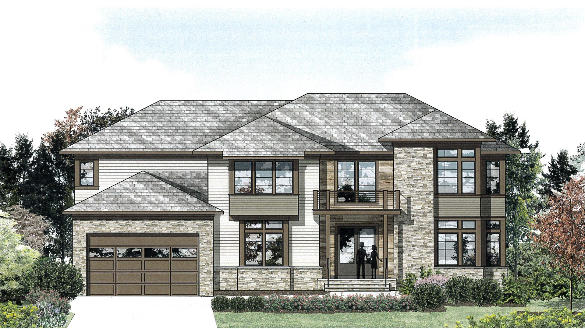 A concept exterior we did on our Winthrop in the Parkline Series style.